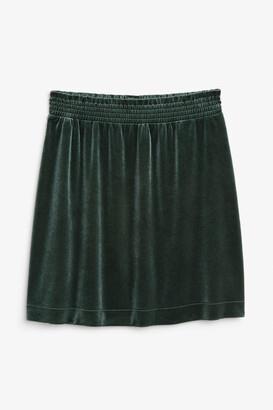 Monki Velvet mini skirt