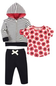 Touched by Nature Toddler Boys and Girls Hoodie, Bodysuit or Tee Top and Pant Set