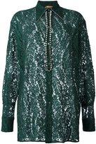 No.21 embellished lace shirt