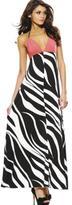 Printed Backless Maxi Dress
