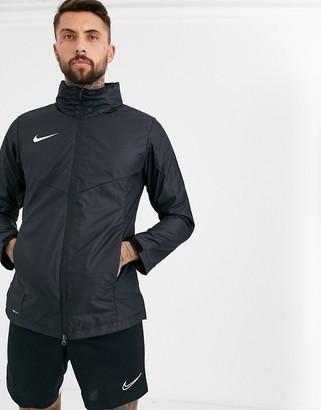 Nike Football Soccer academy hooded jacket in black
