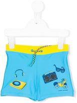 Little Marc Jacobs printed swim trunks