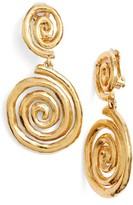 Oscar de la Renta Women's Swirl Clip Earrings