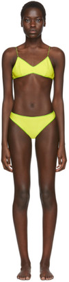 Oseree SSENSE Exclusive Green Slip Bikini