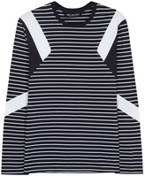 Neil Barrett Mod Striped Cotton Top