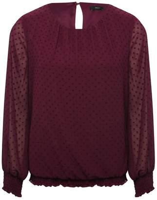 M&Co Shirred dobby blouse