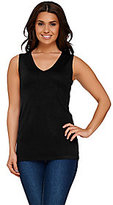 As Is Susan Graver Sleeveless V-neck Sweater