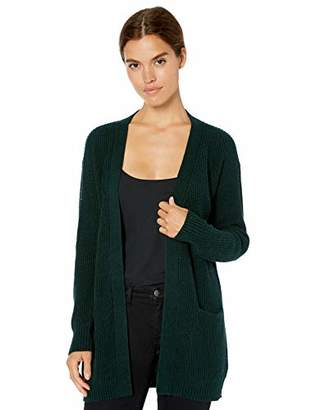 Daily Ritual Wool Blend Open Cardigan Sweater Pullover,L