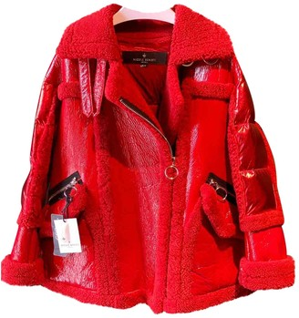 Nicole Benisti Red Leather Jacket for Women