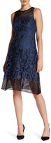 Julia Jordan Embroidered Applique Fit and Flare Dress