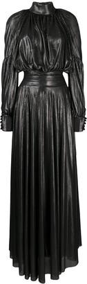 John Richmond Puff-Sleeve Maxi Dress
