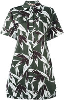 Marni Swash print shirt dress - women - Cotton/Linen/Flax - 42