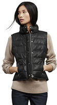 Kenneth Cole Leather Puffer Vest