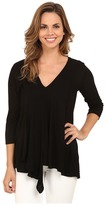 Miraclebody Jeans Alyse Asymmetrical Top w/ Body-Shaping Inner Shell