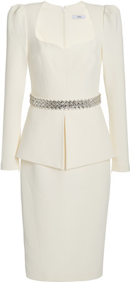 Safiyaa Exclusive Belted Heavy Crepe Cocktail Dress