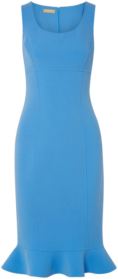 Michael Kors Collection Fluted Stretch-wool Ponte Dress