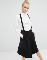 Monki Tailored Skirt With Straps