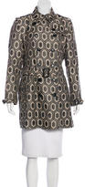 Burberry Patterned Double-Breasted Coat