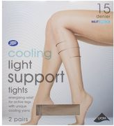 Boots 15 Denier Cooling Light Support Nude Tights 2 Pair Pack