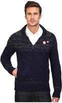 Scotch & Soda Zip-Thru Cardigan in Chunky Slub Yarn Knit Men's Sweater