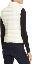 Moncler Fitted Zip Puffer Vest, Ivory