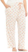 Sleep Sense Plus Striped Fox-Print Sleep Pants