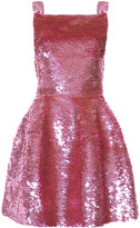 Oscar de la Renta sequinned flared dress