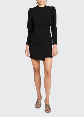 A.L.C. Jane Long-Sleeve Ruched Mini Dress
