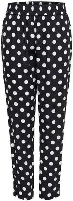 Jacqueline De Yong Jdystar Polka Dot Print Straight Leg Trousers