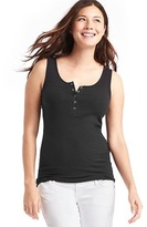 Gap Ribbed henley tank