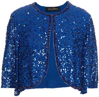 Jenny Packham Bead And Sequin-embellished Chiffon Bolero