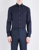 HUGO BOSS Slim-fit cotton-blend shirt