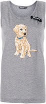 Dolce & Gabbana embroidered puppy tank top