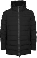 Herno Black Quilted Shell Coat