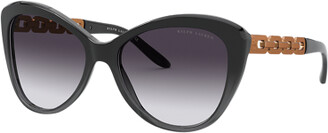 Ralph Lauren Chain Butterfly Sunglasses