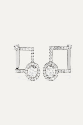 Messika Glam'azone 18-karat White Gold Diamond Earrings