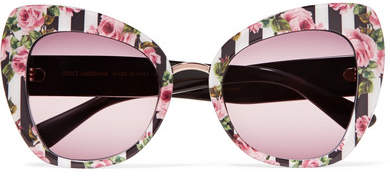 Dolce & Gabbana Cat-eye Printed Acetate Sunglasses - Pink