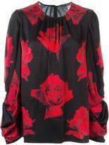 Alexander McQueen rose print blouse