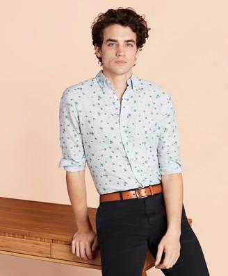 Brooks Brothers Floral Linen-Blend Sport Shirt