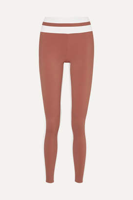 Vaara Flo Tuxedo Striped Stretch Leggings - Tan