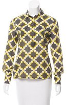 Tory Burch Printed Button-Up Blouse
