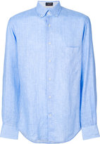 Paul & Shark classic shirt - men - Linen/Flax - 39