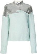 Aviu sequined turtle neck jumper