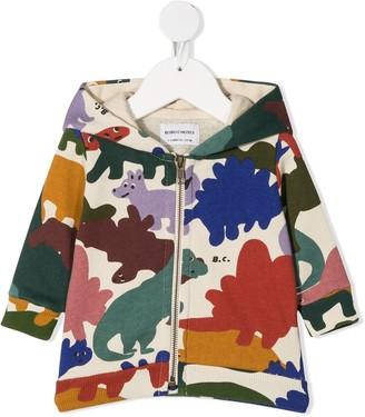 Bobo Choses Dino-print zipped hoodie