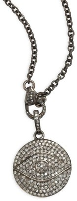 Nina Gilin Diamond Evil Eye Pendant Necklace