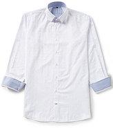 Visconti Big & Tall Textured Jacquard Paisley Shirt