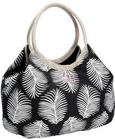 Pottery Barn Kids Black Paisley Baker Linen Beach Bag