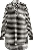 Marissa Webb Wesley gingham wool-gauze shirt