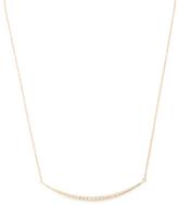 Mizuki 14K Yellow Gold & 0.11 Total Ct. Diamond Crescent Icicle Necklace