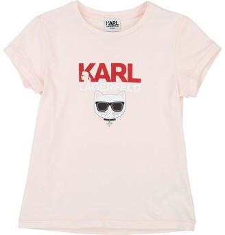 Karl Lagerfeld Paris Girls Apricot T-Shirt